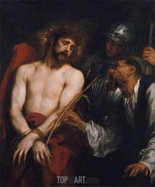 The Mocking of Christ, c.1628/30 by van Dyck | Painting Reproduction