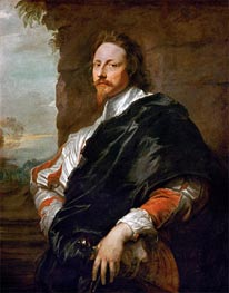 Portrait of Nicholas Lanier, c.1628/32 by van Dyck | Painting Reproduction