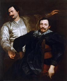 Portraits of the Painters Lucas and Cornelis de Wael | van Dyck | Painting Reproduction