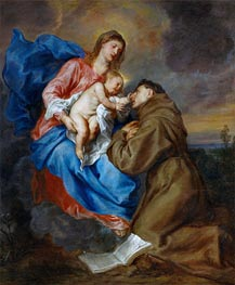 Virgin and Child with Saint Anthony of Padua | van Dyck | Painting Reproduction