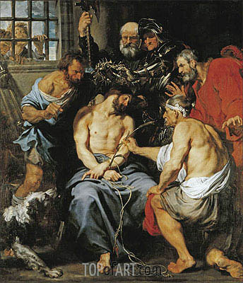 The Crowning with Thorns, c.1618/20 | van Dyck | Painting Reproduction