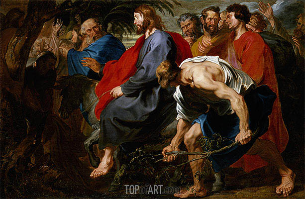 Entry of Christ into Jerusalem, a.1617 | van Dyck | Painting Reproduction