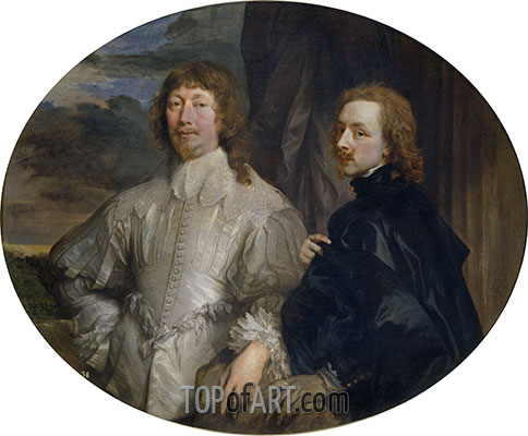 Endymion Porter and Anthony van Dyck, c.1635 | van Dyck | Painting Reproduction