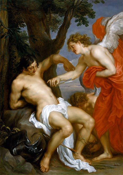 Saint Sebastian and the Angel, c.1628/32 | van Dyck | Painting Reproduction