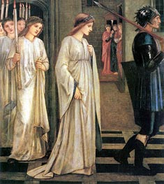 The Princess Sabra Led to the Dragon, 1866 by Burne-Jones | Painting Reproduction