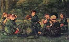 Green Summer, 1868 by Burne-Jones | Painting Reproduction