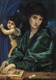 Portrait of Maria Zambaco, 1870 by Burne-Jones | Painting Reproduction