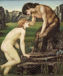 Pan and Psyche, c.1872/74 by Burne-Jones | Painting Reproduction