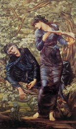 The Beguiling of Merlin, 1874 von Burne-Jones | Gemälde-Reproduktion