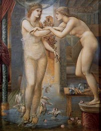 Pygmalion and the Image-The Godhead Fires | Burne-Jones | Painting Reproduction