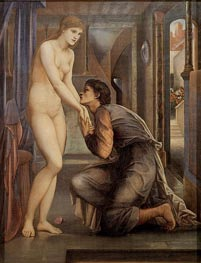 Pygmalion and the Image-The Soul Attains | Burne-Jones | Painting Reproduction