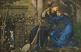 Love Among the Ruins, 1894 von Burne-Jones | Gemälde-Reproduktion