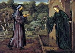 The Pilgrim at the Gate of Idleness | Burne-Jones | Painting Reproduction