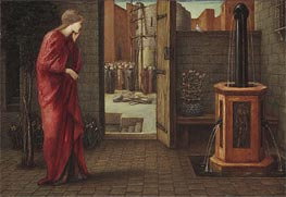 Danae Watching the Building of the Brazen Tower | Burne-Jones | Gemälde Reproduktion