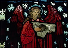 Angel Musician (Detail), 1882 by Burne-Jones | Painting Reproduction