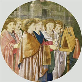 The Choristers, undated by Burne-Jones | Painting Reproduction
