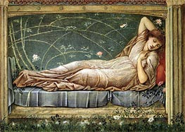 The Sleeping Beauty, 1871 by Burne-Jones | Painting Reproduction