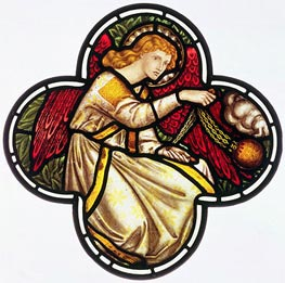 Angel Swinging a Censer, 1870 by Burne-Jones | Painting Reproduction