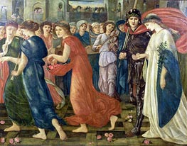 St. George and the Dragon: The Return | Burne-Jones | Painting Reproduction