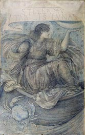 The Moon, Undated by Burne-Jones | Painting Reproduction