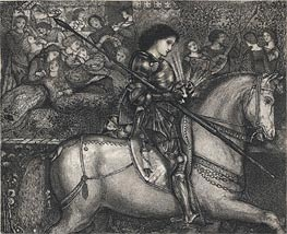 Sir Galahad | Burne-Jones | Painting Reproduction