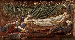 The Briar Rose - The Sleeping Beauty | Burne-Jones | Painting Reproduction