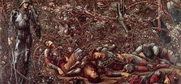 The Briar Rose - The Prince Enters the Briar Wood | Burne-Jones | Painting Reproduction