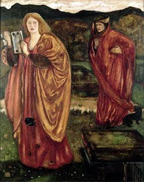 Merlin and Nimue | Burne-Jones | Gemälde Reproduktion