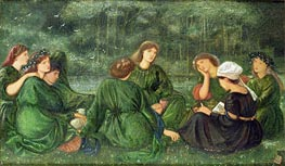 Green Summer, 1864 by Burne-Jones | Painting Reproduction