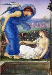 Cupid and Psyche, c.1865 by Burne-Jones | Painting Reproduction