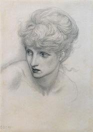 Study of a Girl's Head | Burne-Jones | Painting Reproduction