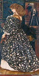 Sidonia von Bork, 1860 by Burne-Jones | Painting Reproduction