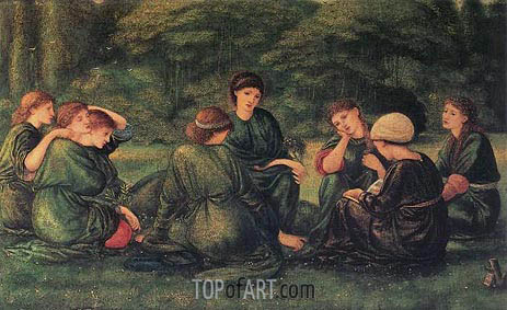 Green Summer, 1868 | Burne-Jones | Painting Reproduction