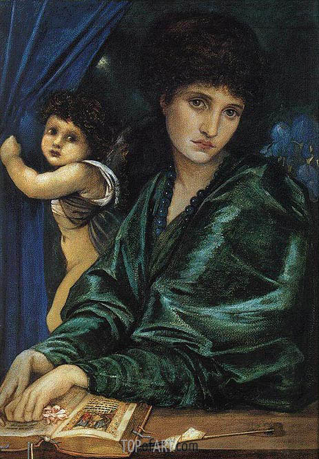 Portrait of Maria Zambaco, 1870 | Burne-Jones | Gemälde Reproduktion