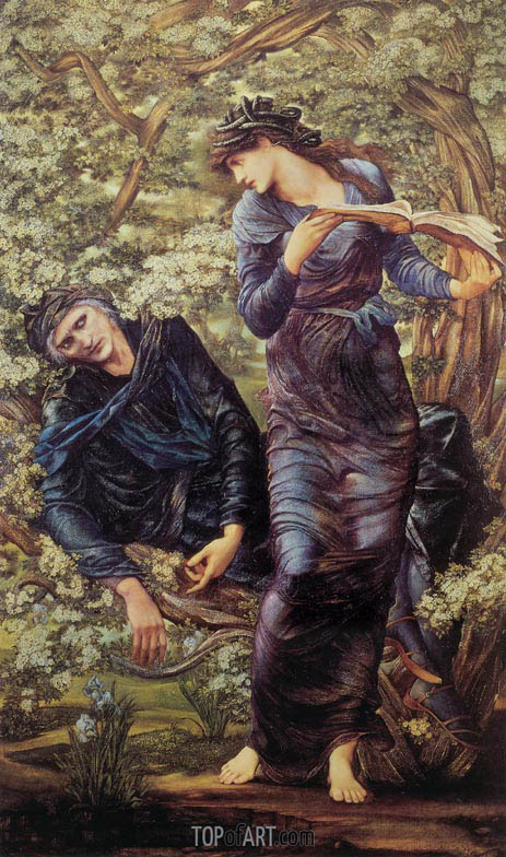 The Beguiling of Merlin, 1874 | Burne-Jones | Gemälde Reproduktion