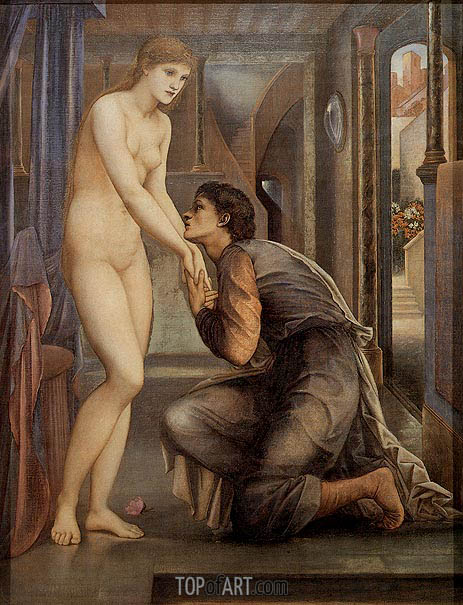 Pygmalion and the Image-The Soul Attains, c.1868/78   Burne-Jones   Painting Reproduction