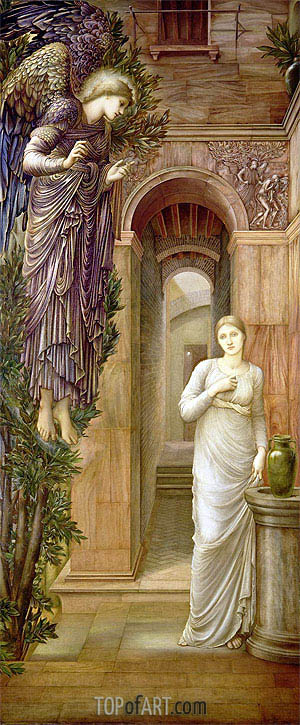 The Annunciation, 1879 | Burne-Jones | Gemälde Reproduktion