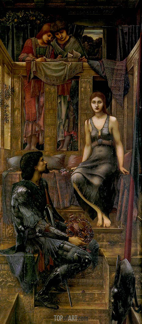 King Cophetua and the Beggar Maid, 1884 | Burne-Jones | Gemälde Reproduktion