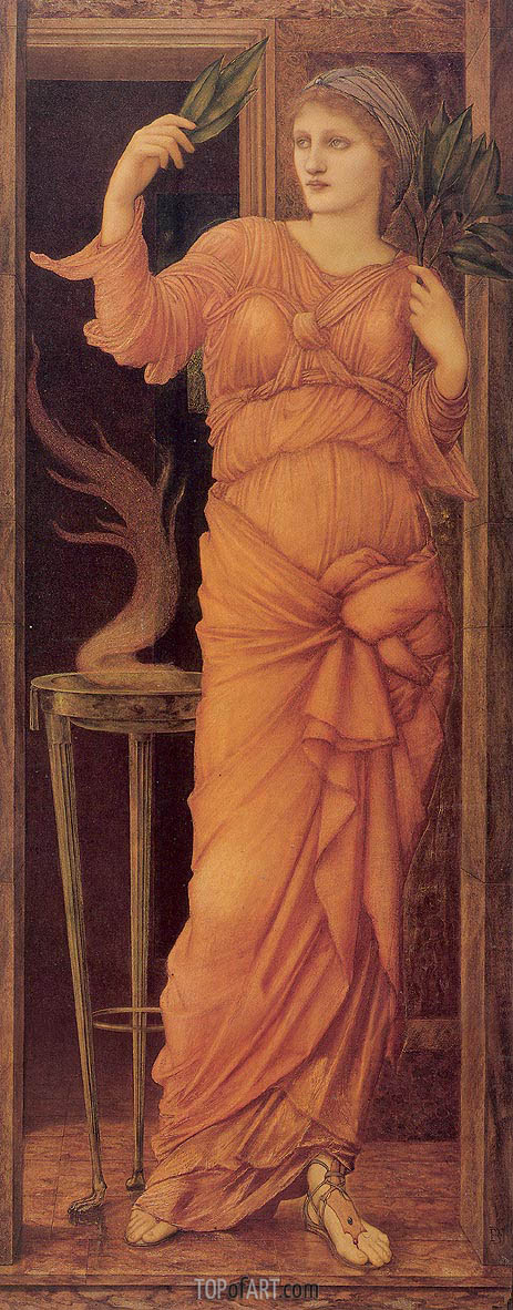 Sibylla Delphica, 1868 | Burne-Jones | Gemälde Reproduktion