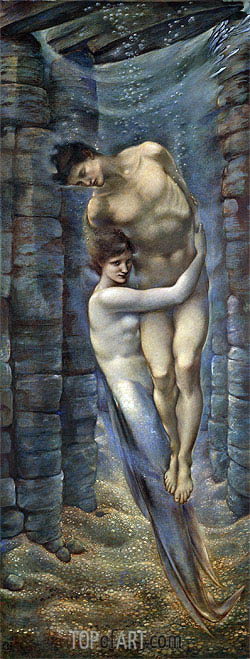 The Depths of the Sea, 1887 | Burne-Jones | Gemälde Reproduktion