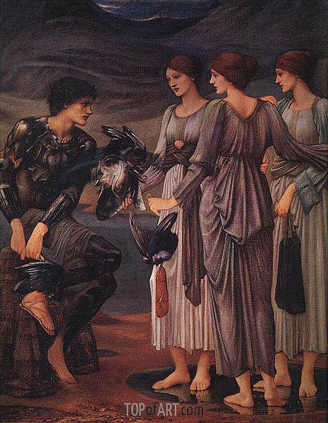The Arming of Perseus, c.1885/88 | Burne-Jones | Painting Reproduction
