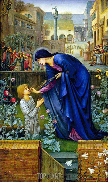 The Prioress's Tale, c.1865/98 | Burne-Jones | Painting Reproduction