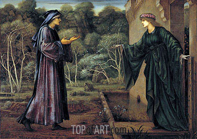 The Pilgrim at the Gate of Idleness, 1884 | Burne-Jones | Gemälde Reproduktion