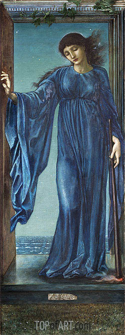 Night, 1870 | Burne-Jones | Painting Reproduction