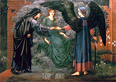 Heart of the Rose, Undated | Burne-Jones | Painting Reproduction