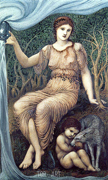 Earth Mother, 1882 | Burne-Jones | Gemälde Reproduktion