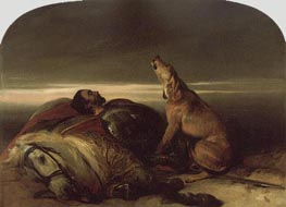 The Faithful Hound, c.1830 by Landseer | Painting Reproduction