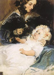 The Duchess of Abercorn and her Daughter | Landseer | Painting Reproduction