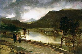 A Highland Loch, undated by Landseer | Painting Reproduction
