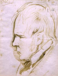 Portrait Sketch of Sir Walter Scott | Landseer | Gemälde Reproduktion